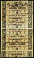 Obsoletes By State:Louisiana, New Orleans, LA- New Orleans Canal and Banking Company $50 18_, Seven Remainders About Uncirculated to Crisp Uncirculated.... (Total: 7 notes)