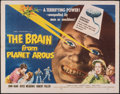 """Movie Posters:Science Fiction, The Brain from Planet Arous (Howco, 1957). Folded, Very Fine-. Half Sheet (22"""" X 28""""). Science Fiction.. ..."""