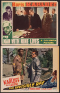 """Movie Posters:Horror, The Invisible Ray & Other Lot (Realart, R-1948). Fine+. Lobby Card (11"""" X 14"""") & Trimmed Lobby Card (10.75"""" X 13.75""""). Horro... (Total: 2 Items)"""