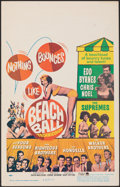 """Movie Posters:Rock and Roll, Beach Ball (Paramount, 1965). Very Fine-. Window Card (14"""" X 22""""). Rock and Roll.. ..."""