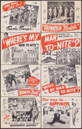 """Movie Posters:Black Films, Marching On! (Astor Pictures, R-1944). Very Fine. Lobby Card Set of 8 (11"""" X 14""""). Reissue Title: Where's My Man To-Night?... (Total: 8 Items)"""
