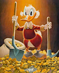 Memorabilia:Disney, Carl Barks Pick and Shovel Laborer Signed Limited Edition Miniature Lithograph Print #10/595 (Another Rainbow, 199...