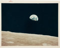 "Explorers:Space Exploration, Apollo 8: ""Earthrise"" Original NASA ""Red Number"" Color Photo, AS8-14-2383. ..."