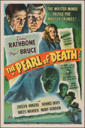 """Movie Posters:Mystery, The Pearl of Death (Universal, 1944). Fine/Very Fine on Linen. One Sheet (27"""" X 41""""). Mystery.. ..."""