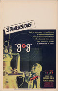 "Movie Posters:Science Fiction, Gog (United Artists, 1954). Very Fine. Window Card (14"" X 22""). Science Fiction.. ..."