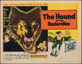 """Movie Posters:Mystery, The Hound of the Baskervilles (United Artists, 1959). Folded, Very Fine-. Half Sheet (22"""" X 28"""") Style A. Mystery.. ..."""