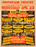 "Music Memorabilia:Posters, Buddy Holly, Chuck Berry 1958 Alan Freed ""Big Beat"" Rare Concert Poster...."