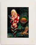 Original Comic Art:Covers, Kelly Freas The Lion Game Cover Painting Study Original Art (Ace, 1971)....