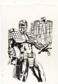 Original Comic Art:Covers, Jim Murray Judge Dredd Lawman of the Future #8 Cover Original Art (Fleetway, 1995)....