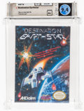 Video Games:Nintendo, Destination Earthstar - Wata 9.4 A+ Sealed, NES Acclaim 1990 USA....