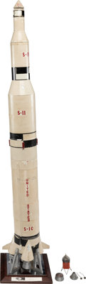 Saturn C-5 Model Made by the Marshall Space Flight Center, Circa Early 1960s, Before It Was Renamed Saturn V