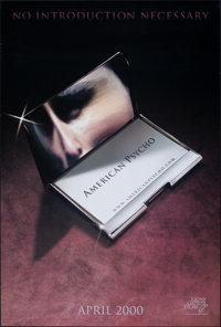 "American Psycho & Other Lot (Lions Gate, 2000). Rolled, Very Fine. One Sheets (3) (27"" X 40"") SS, Advance..."