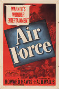 "Movie Posters:War, Air Force (Warner Bros., 1943). Folded, Fine/Very Fine. One Sheet (27"" X 41""). War.. ..."