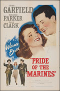 "Movie Posters:War, Pride of the Marines (Warner Bros., 1945). Folded, Fine/Very Fine. One Sheet (27"" X 41""). War.. ..."