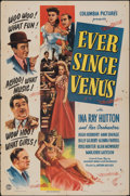 "Movie Posters:Musical, Ever Since Venus (Columbia, 1944). Folded, Fine+. One Sheet (27"" X 41""). Musical.. ..."