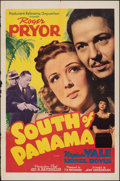 """Movie Posters:Thriller, South of Panama (PRC, 1941). Folded, Fine/Very Fine. One Sheet (27"""" X 41""""). Thriller.. ..."""