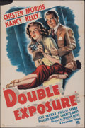 "Movie Posters:Comedy, Double Exposure (Paramount, 1944). Folded, Fine+. One Sheet (27"" X 41""). Comedy. From the Collection of Frank Buxton, of w..."