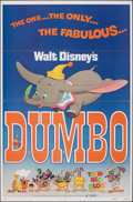 """Movie Posters:Animation, Dumbo (Buena Vista, R-1972). Folded, Very Fine. One Sheet (27"""" X 41""""). Animation. From the Collection of Frank Buxton, of ..."""