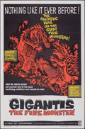 """Movie Posters:Science Fiction, Gigantis the Fire Monster (Warner Bros., 1959). Folded, Fine/Very Fine. One Sheet (27"""" X 41""""). Science Fiction.. ..."""