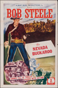 "Movie Posters:Western, The Nevada Buckaroo & Other Lot (Albert Dezel, R-1948). Folded, Overall: Fine+. Stock One Sheet & One Sheet (27"" X 41""). Wes... (Total: 2 Items)"