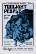 "Movie Posters:Horror, Twilight People & Other Lot (Dimension, 1972). Folded, Very Fine-. One Sheet (27"" X 41"") & Video Poster (20"" X 36""). Horror.... (Total: 2 Items)"