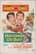 """Movie Posters:Comedy, Hollywood or Bust (Paramount, 1956). Folded, Very Fine-. One Sheet (27"""" X 41""""). Comedy. From the Collection of Frank Buxto..."""