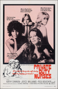 """Private Duty Nurses (New World, 1971). Folded, Very Fine-. One Sheet (27"""" X 41""""). Sexploitation. From the Coll..."""