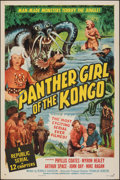 "Movie Posters:Serial, Panther Girl of the Kongo (Republic, 1955). Folded, Very Fine. One Sheet (27"" X 41""). Serial.. ..."