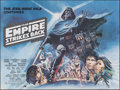 """Movie Posters:Science Fiction, The Empire Strikes Back (20th Century Fox, 1980). Folded, Very Fine+. British Quad (30"""" X 40"""") White Title Style, Tom Jung A..."""