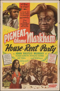 """Movie Posters:Black Films, House Rent Party (Toddy Pictures, 1946). Folded, Very Fine-. One Sheet (27"""" X 41""""). Black Films.. ..."""