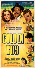 "Movie Posters:Drama, Golden Boy (Columbia, 1939). Folded, Fine/Very Fine. Three Sheet (41"" X 79""). Drama. . ..."