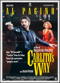 "Carlito's Way (Penta, 1993). Folded, Very Fine. Italian 2 - Fogli (39.25"" X 55""). Crime"