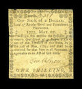 Colonial Notes:Rhode Island, Rhode Island May 22, 1777 $1/6 Fine....