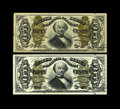 Fractional Currency:Third Issue, Fr. 1333 50c Third Issue Spinner About New.. Fr. 1339 50c Third Issue Spinner Type II Extremely Fine-About New.... (Total: 2 notes)