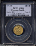 Commemorative Gold: , 1915-S Panama-Pacific Quarter Eagle MS66 PCGS. ...