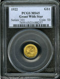 Commemorative Gold: , 1922 Grant with Star MS65 PCGS. ...
