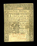 Colonial Notes:Connecticut, Connecticut May 10, 1775 40s About New....