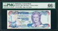 World Currency, Bahamas Central Bank 100 Dollars 1996 Pick 62 PMG Gem Uncirculated 66 EPQ.. ...
