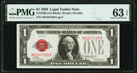 Fr. 1500 $1 1928 Legal Tender Note. PMG Choice Uncirculated 63 EPQ