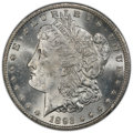1893-CC $1 MS63 PCGS. The Carson City Mint struck its last silver dollars in 1893. Coinage amounted to 677,000 pieces, b...