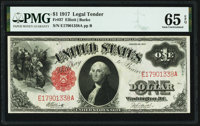 Fr. 37 $1 1917 Legal Tender PMG Gem Uncirculated 65 EPQ