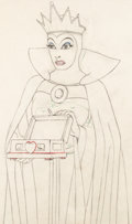 Animation Art:Production Drawing, Snow White and the Seven Dwarfs Evil Queen with Heart Box Animation Drawing (Walt Disney, 1937)....