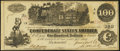 Confederate Notes:1862 Issues, Fully Framed T39 $100 1862 About Uncirculated.. ...