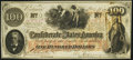 Confederate Notes:1862 Issues, T41 $100 1862 Choice About Uncirculated.. ...