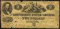 Confederate Notes:1861 Issues, T38 $2 1861 Very Good.. ...