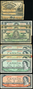 Canada Group Lot of 11 Examples Very Good-Very Fine. ... (Total: 11 notes)