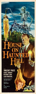 "Movie Posters:Horror, House on Haunted Hill (Allied Artists, 1959). Rolled, Very Fine/Near Mint. Insert (14"" X 36""). Reynold Brown Artwork.. ..."