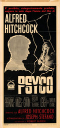 Movie Posters:Hitchcock, Psycho (Paramount, 1960). Folded, Fine/Very. Itali...