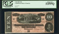 Confederate Notes:1864 Issues, T68 $10 1864 PCGS About New 53PPQ.. ...