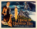 """Movie Posters:Horror, House on Haunted Hill (Allied Artists, 1959). Rolled, Very Fine-. Autographed Half Sheet (22"""" X 28""""). Reynold Brown Artwork...."""